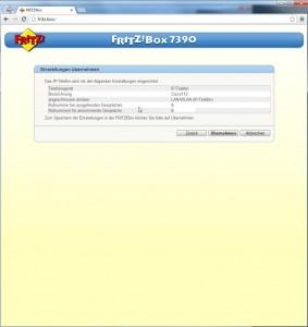 Fritz-Konfiguration für VoIP-Telefonie intern